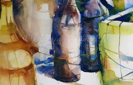 Urquias-aquarelle-Gelbe-Flasche