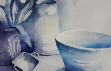 urquias-aquarelle-Blau Stillleben