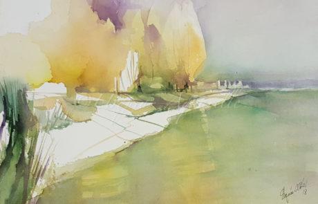 urquias-aquarelle-Kniebach Immenstaad 30 x 40