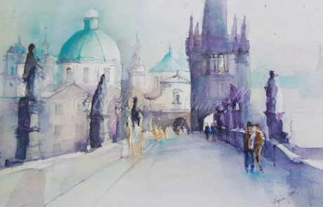 urquias-aquarelle-Prag 1 30 x 40