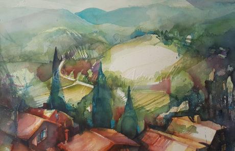 urquias-aquarelle-Toscana 1 56.75