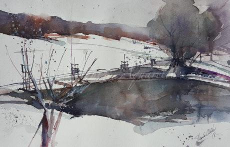 urquias-aquarelle-Winterstimmung 1
