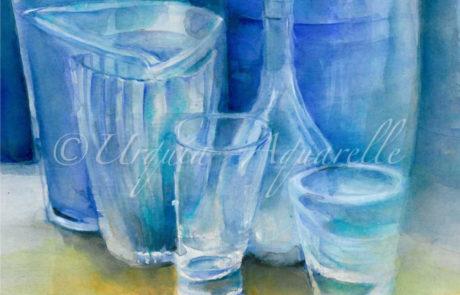 urquia-aquarelle-Gläser Stillleben 9