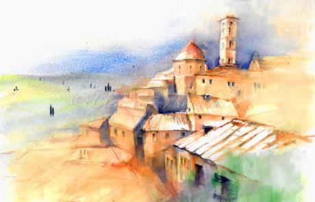 urquias-aquarelle Toscana 1-15